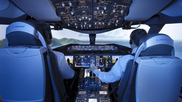 787 flight sim CAE